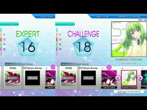 【DDR創作譜面DP3曲目】DIAMOND CROSSING EXPERT&CHALLENGE