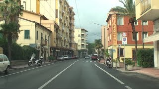 Vallecrosia, Italy - drive towards Monaco
