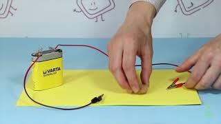 Circuito eléctrico: materiales conductores y aislantes. Experimentos (Divertiaula)