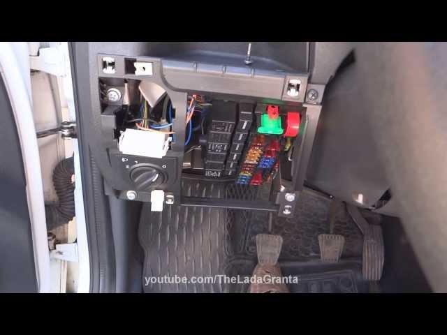 Lada Granta - подключение регистратора и радар-детектора от проводки автомобиля.