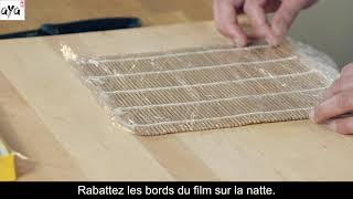 Wrapping the bamboo mat