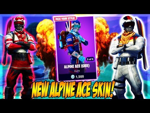 NEW ALPINE ACE SKIN! (Fortnite Battle Royale)