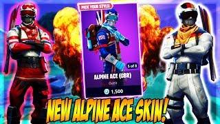 NEW ALPINE ACE SKIN! (Fortnite Battle Royale)