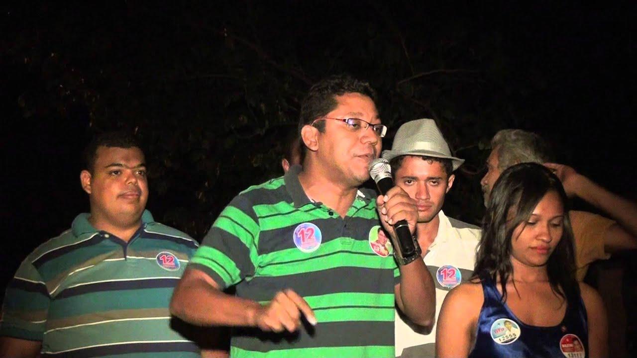 Discurso do Candidato a Vereador Lamarck durante comicio no Bairro Alto Bonito
