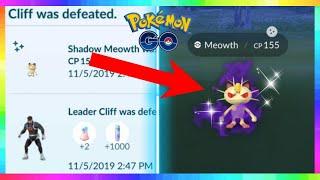 SHINY CAUGHT! NEW SHADOW SHINY MEOWTH and Team Rocket Leaders in Pokemon Go!