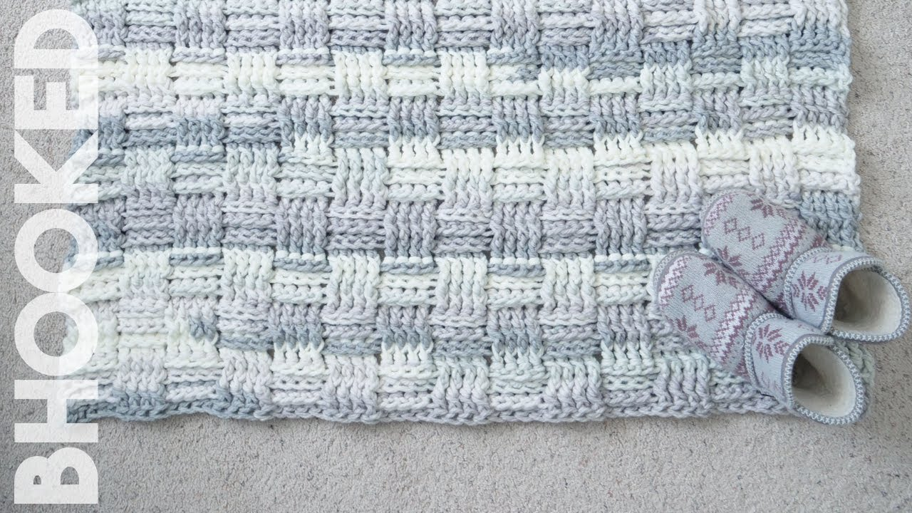 How To Crochet A Rug Chunky Basket Weave