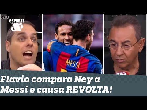 São INVEJADOS? Flavio Prado compara Neymar a Messi e REVOLTA repórter!