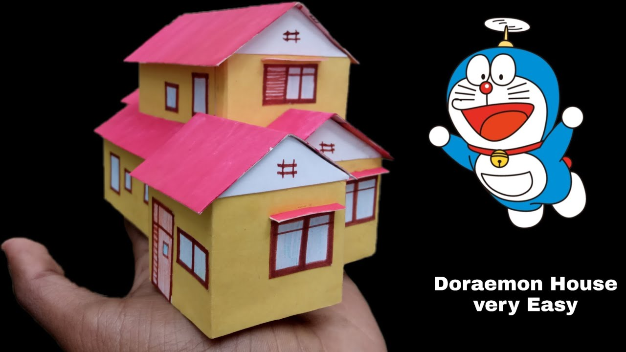 How To Make Doraemon House How To Make Doraemon House In Minecraft Doraemon House Miniature Youtube