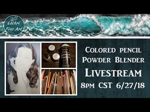 Drawing hands in Colored Pencil Livestream & Art Chat - Lachri - 동영상