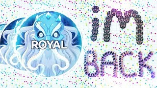 ROYAL PLAYS AGAR.IO FOR THE FIRST TIME IN A YEAR! (*NEW* Agar.io Battle Royale)