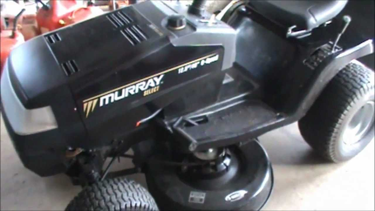 Murray Select Tractor Repairs Youtube Old Craftsman Riding Lawn Mower 1 2 Hp Wiring Diagram