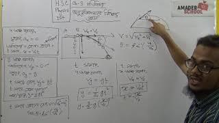 HSC Physics 1st Paper | Chapter 3- গতিবিদ্যা- অনুভূমিকভাবে নিক্ষিপ্ত প্রাস (পার্ট- ১)| সাদী স্যার