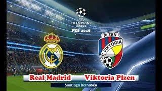 REAL MADRID VS VIKTORIA PLZEN | UEFA Champions League 2018 | PES 2018 Gameplay HD