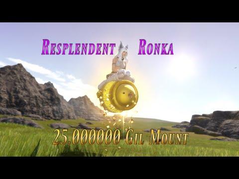 FFXIV:  Resplendent Vessel of Ronka - 25 Million Gil Mount