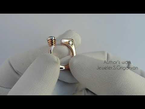 Женское Кольцо из золото 585 пробы полностью ручной работы (Ювелирное Дело)