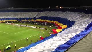 la bandera mas grande del mundo (Millonarios vs Corinthians) 3 de abril
