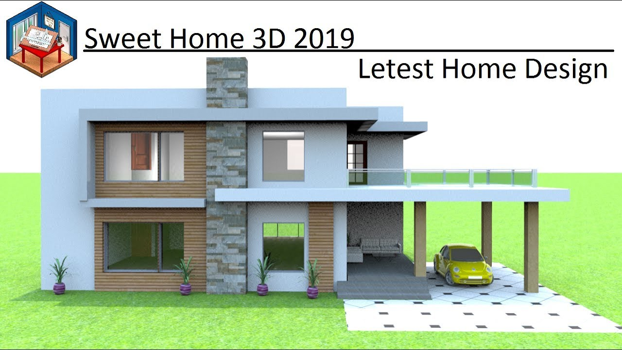2019 House Design Making In Sweet Home 3d Complete Project