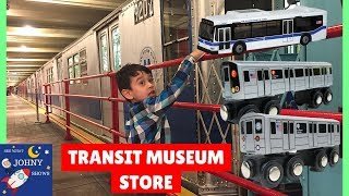 MTA Transit Museum Gift Shop With MTA Bus and Train Toys