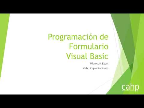 6 - Programación de Formulario + ComboBox 3  en Visual Basic  Excel Intermedio