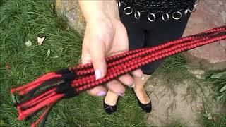 Flogger aus Paracord   ausgefallenes SM Spielzeug   neu im Fetisch Online Shop Peitschenbär