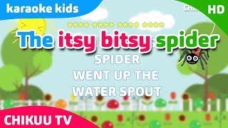 karaoke Incy Wincy Spider/Itsy Bitsy Spider | Instrumental Lyrics | #KaraokeKids #karokeChildren's