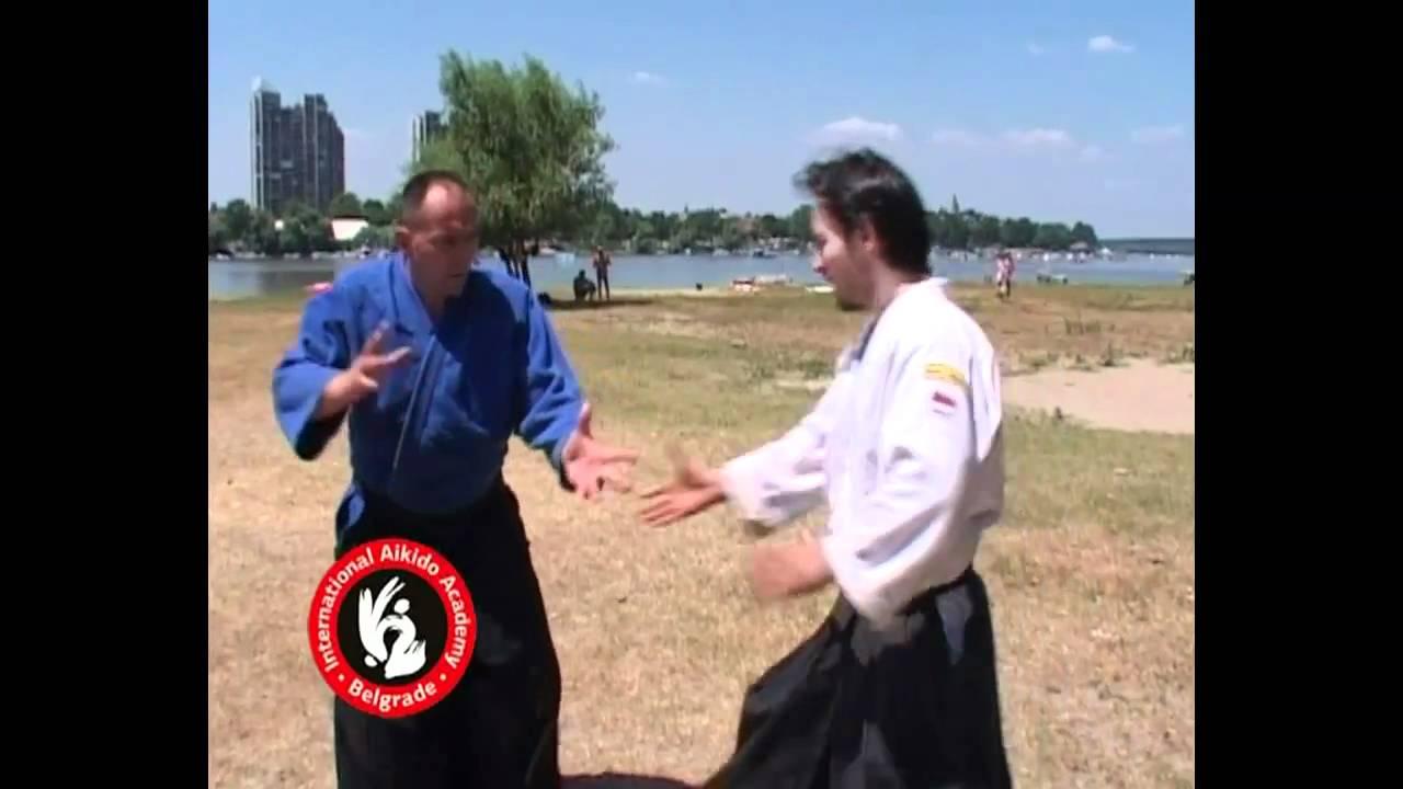 Aikido techniques by Bratislav Stajic: Katatetori gyakuhanmi nikyo