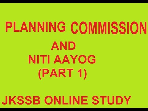 PLANNING COMMISSION AND NITI AAYOG PART 1