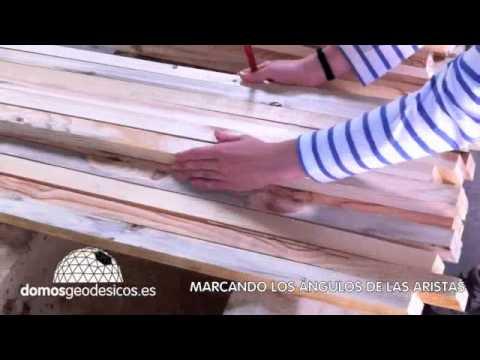 Tutorial Construcción Domo Geodésico Video 2 Marcando Maderas