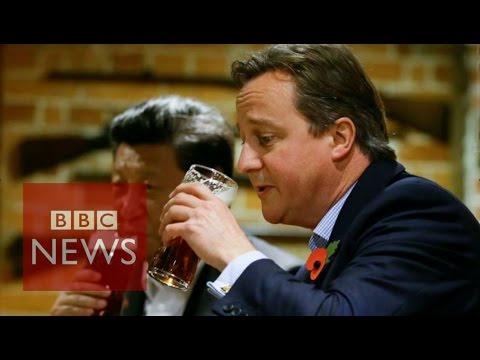 David Cameron takes Xi Jinping for a pint  - BBC News