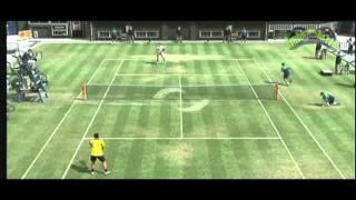 [XBOX 360] Virtua Tennis 4   presentación y partido completo 1 set