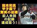 プロ野球巨人の岡本、阪神戦の成績がヤバイ!最終戦で、前人未到の大記録達成するぞ!!