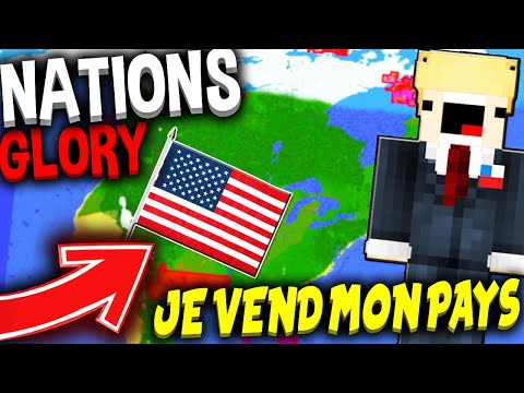 💠 NATIONSGLORY -  JE VEND MON PAYS A TRUMP !? (Minecraft EarthMC) 💰