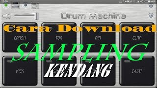 Cara download sampling kendang Drum MACHINE