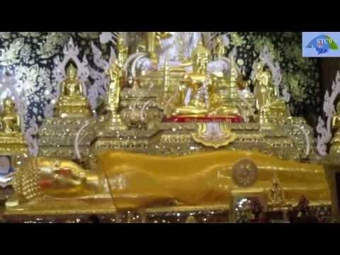 วัดท่าไม้ ในโบสถ์สวยมากๆ โชคพาเที่ยว ทำบุญทั่่ววัด 4/5 ; Tha Mai ; Thai Temple Tour 4/5