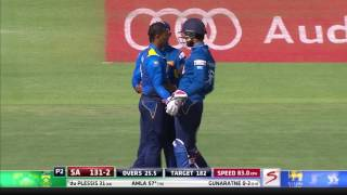 South Africa vs Sri Lanka - 1st ODI - SA Innings Highlights
