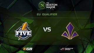 F5 vs Imperial, Boston Major EU Qualifiers