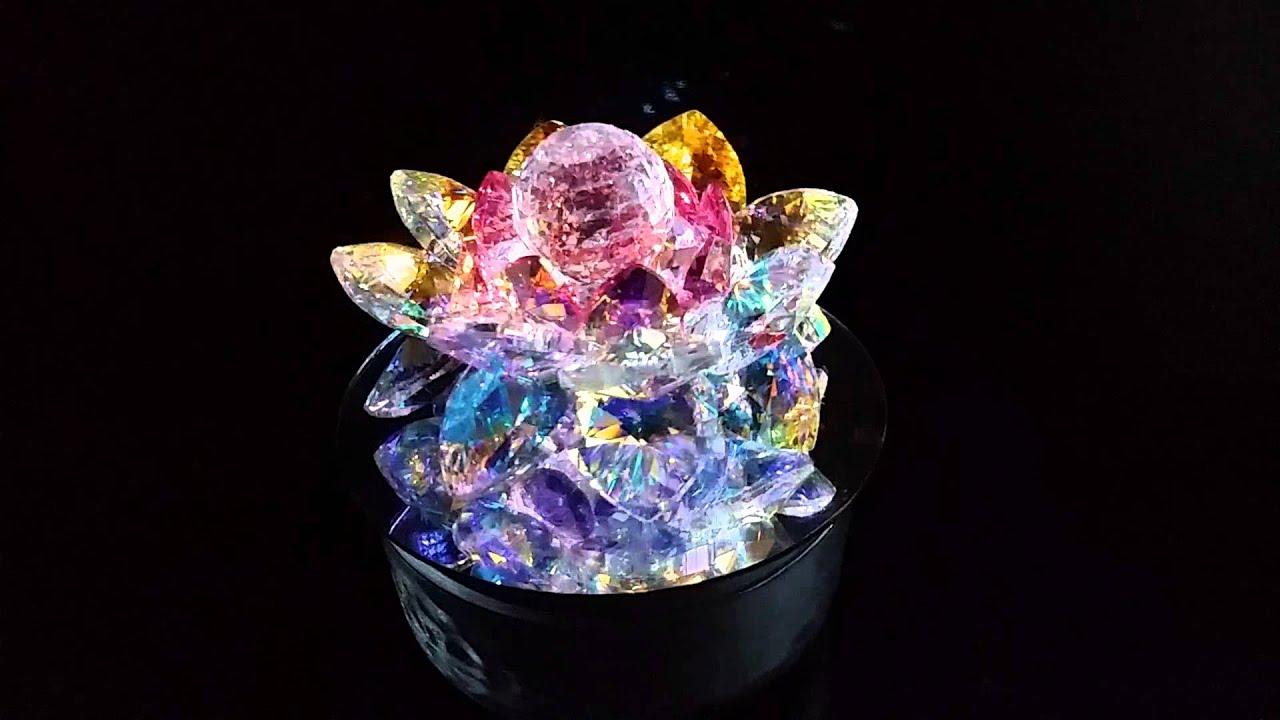 Super Large 8 Petals Sacred Crystal Lotus Flower Model Sl Cw
