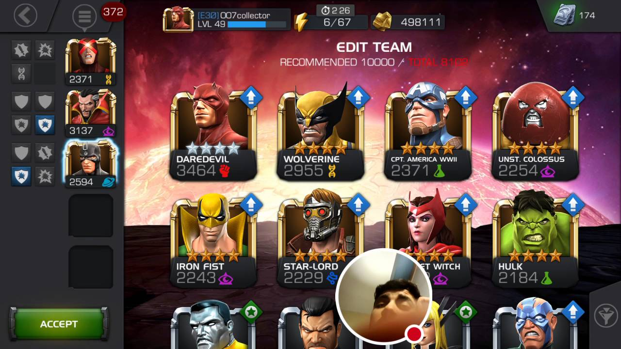 Contest of Champions:AQ Team plan changes?