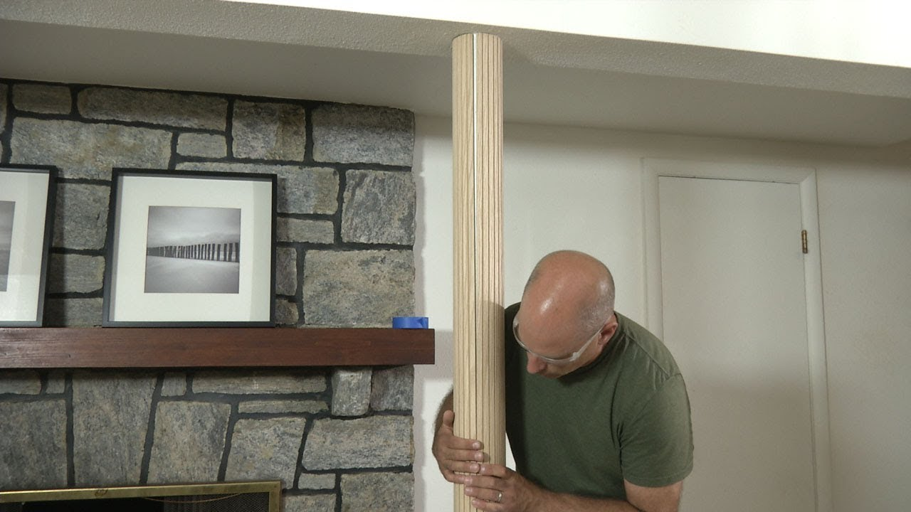 cover basement support poles or lally columns with polewrap  youtube. cover basement support poles or lally columns with polewrap