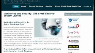 Monitoring and Security: New Website Provides Free Quotes from Security Companies