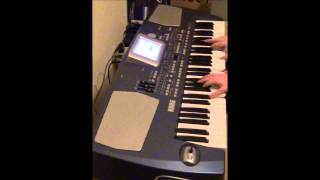 Korg PA-500 Strings Voc Bank Demo - Patch - 039   Choir Aahs GM