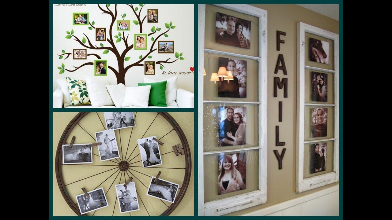 DIY Photo Display Ideas - Creative Photo Wall Decor - YouTube on Creative:kqmwrvdqiag= Wall Art Ideas  id=80221