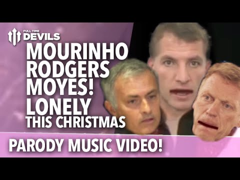 Sacked managers Mourinho, Rodgers and Moyes are Lonely This Christmas (parody)