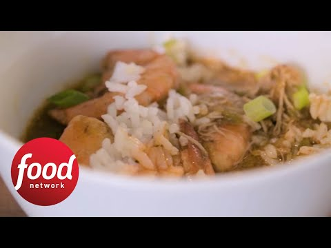 Slow Cooker Smoked Chicken And Shrimp Gumbo Food Network Youtube