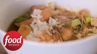 Slow-Cooker Smoked Chicken and Shrimp Gumbo | Food Network