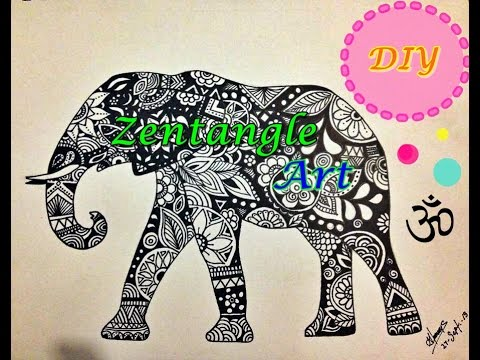 Zentangle Elefante Diy Youtube