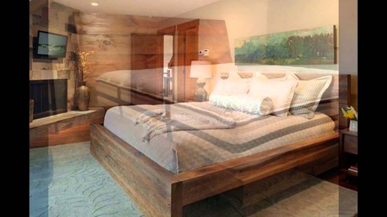 Reclaimed Wood Bed Frame - Reclaimed Wood Bed Frame - YouTube