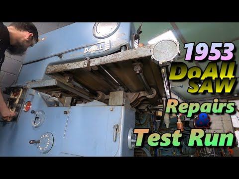 Massive1953 Doall Saw repair and test run.