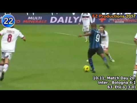 Samuel Eto'o - 35 goals in Serie A (Inter, Sampdoria 2009-2015)