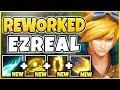 NEW EZREAL REWORK IS ACTUALLY BEYOND BROKEN! (GOD TIER) REWORKED EZREAL GAMEPLAY - League of Legends